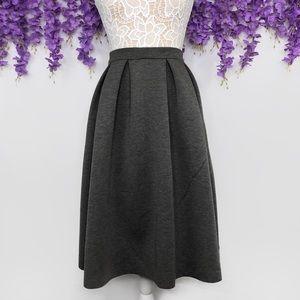 Charlotte Russe Pleated Scuba Knit Midi Skirt
